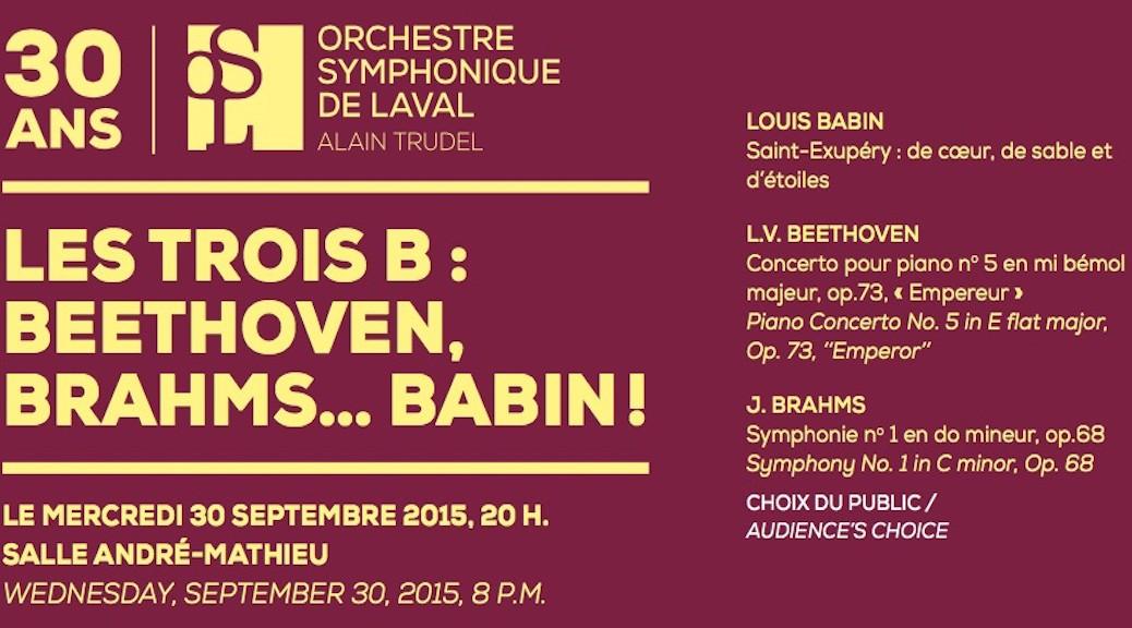 ORCHESTRE SYMPHONIQUE DE LAVAL'S 30TH ANNIVERSARY SEASON