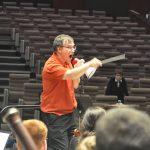 Louis Babin en répétition avec l'Orchestre symphonique des jeunes de Strasbourg, mai 2016